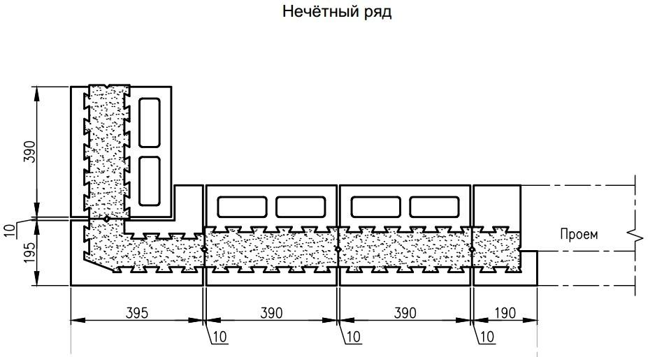 Технология кладки коробки дома из теплоблоков