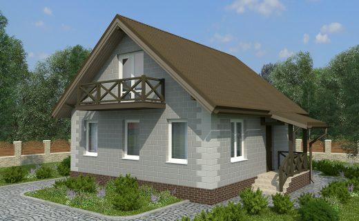 Построим для Вас такой дом площадью 100 м2
